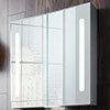 Crosswater Allure 700 x 700mm Illuminated Mirrored Cabinet - AL7070AL profile small image view 1