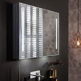 Crosswater Allure 900 x 700mm Illuminated Mirrored Cabinet - AL9070AL