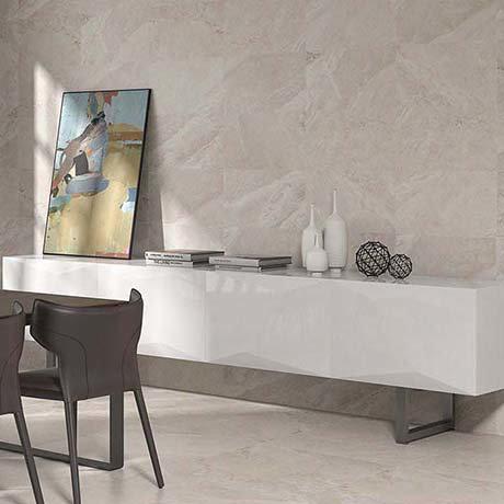 Alaric Beige Stone Effect Wall & Floor Tiles - 300 x 600mm