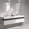 Alaric Light Grey Stone Effect Wall & Floor Tiles - 300 x 600mm Small Image