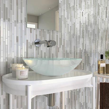 Alaska Glass & Stone Mosaic Tile Sheet - 292 x 303mm