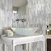 Alaska Glass & Stone Mosaic Tile Sheet - 292 x 303mm profile small image view 1