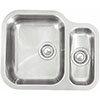Reginox Alaska 1.5 Bowl Stainless Steel Undermount Kitchen Sink profile small image view 1