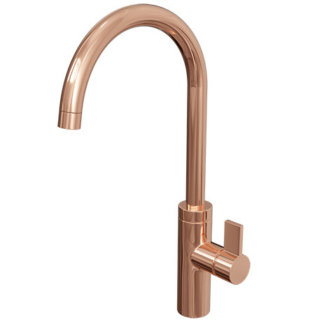Alberta Rose Gold Modern Kitchen Mixer Tap