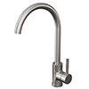 Alberta Modern Brushed Stainless Steel Kitchen Mixer Tap Small Image