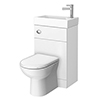 Alaska Combined Two-In-One Wash Basin & Toilet (500mm wide x 300mm) profile small image view 1