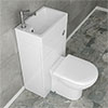 Alaska Combined Two-In-One Wash Basin & Toilet (500mm wide x 300mm) Medium Image