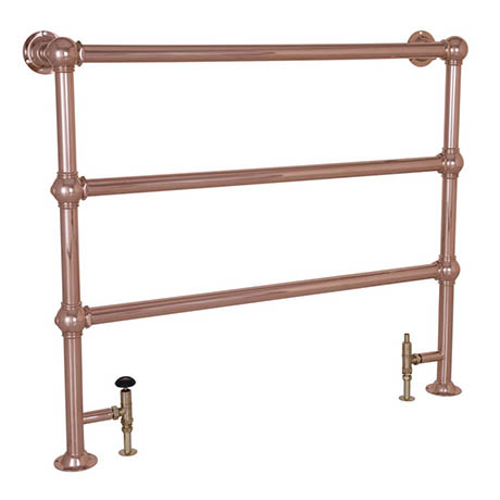 Alford Traditional 1000 x 1150mm Steel Towel Rail - Copper