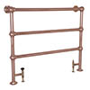 Alford Traditional Copper 1000 x 1150mm Steel Towel Rail profile small image view 1