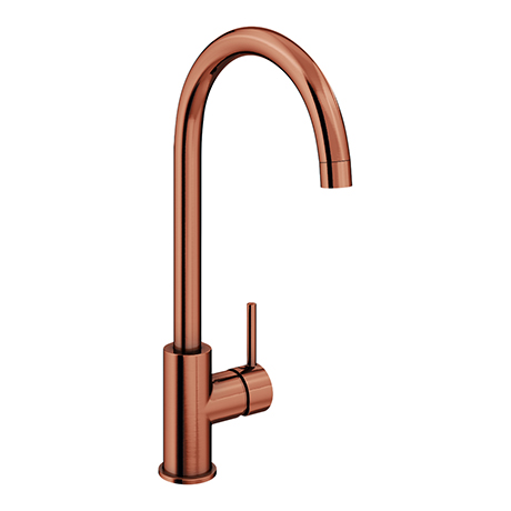 Alberta Modern Brushed Copper Kitchen Mixer Tap