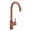 Alberta Modern Brushed Copper Kitchen Mixer Tap profile small image view 1