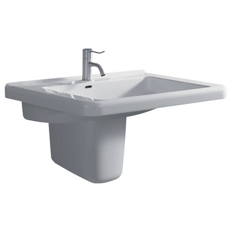 Twyford All 1TH Basin & Semi Pedestal