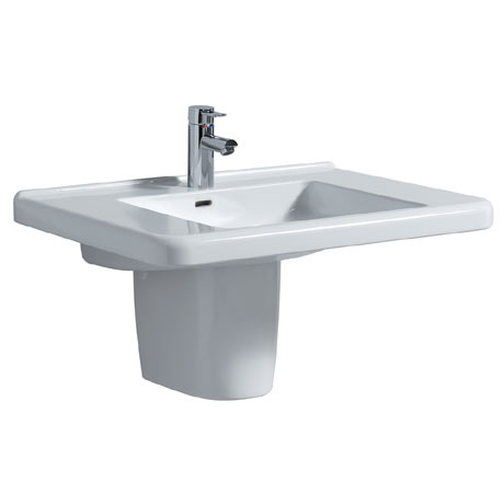 Twyford All 750mm 1TH Basin & Semi Pedestal