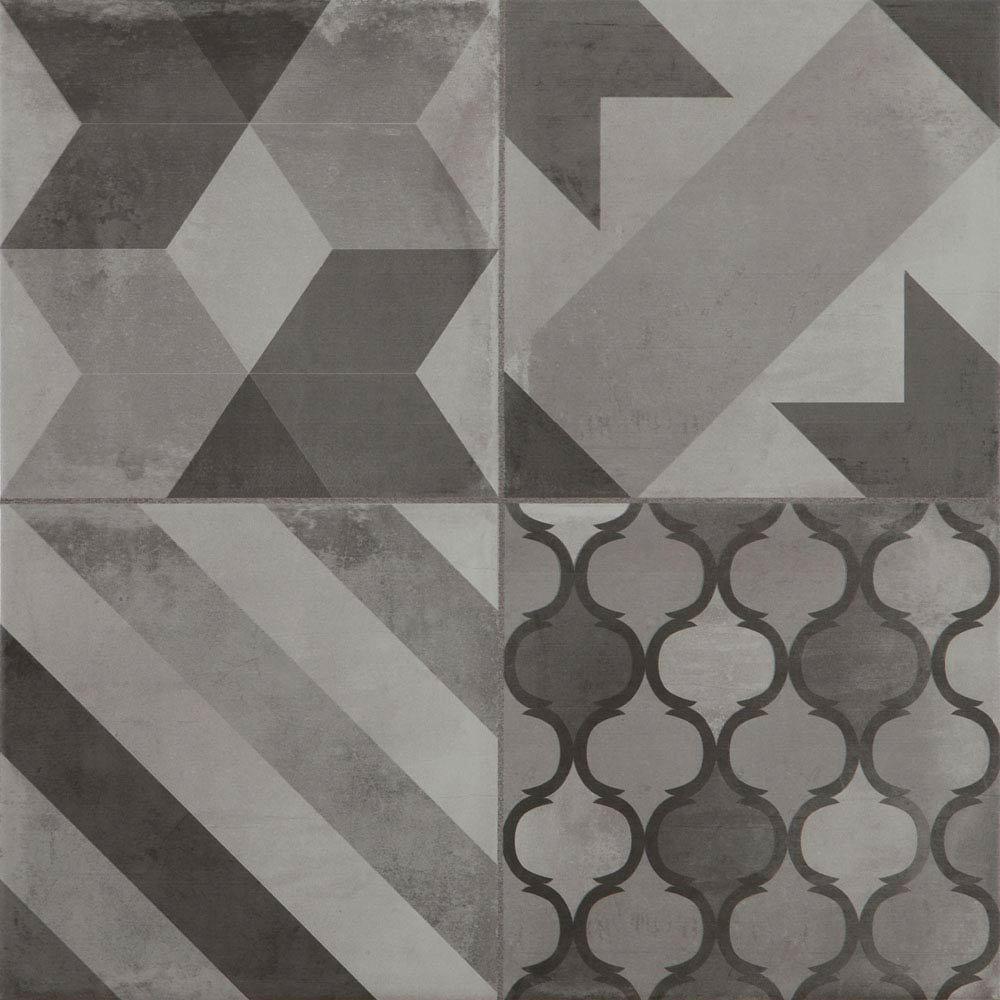 Almada Grey Rustic Floor Tile - 450 x 450mm  Profile Large Image