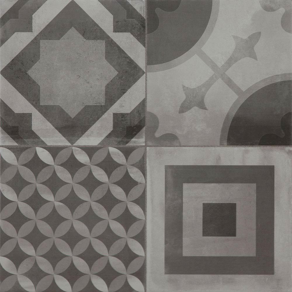 Almada Grey Rustic Floor Tile - 450 x 450mm Large Image