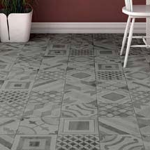 Almada Grey Rustic Floor Tile - 450 x 450mm Medium Image