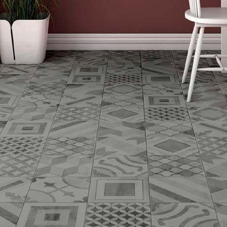 Almada Grey Rustic Floor Tile - 450 x 450mm