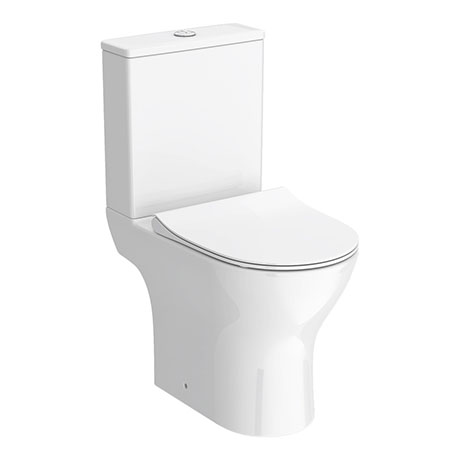 Alps Modern Short Projection Toilet + Soft Closing Seat