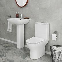 Alps 4-Piece Modern Bathroom Suite Medium Image