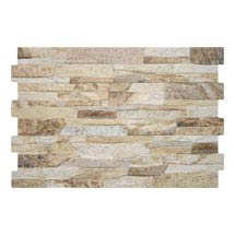 Textured Alps Terra Stone Effect Wall Tiles - 34 x 50cm Medium Image
