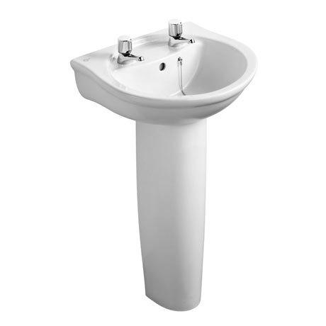 Ideal Standard Alto 2TH Basin & Pedestal
