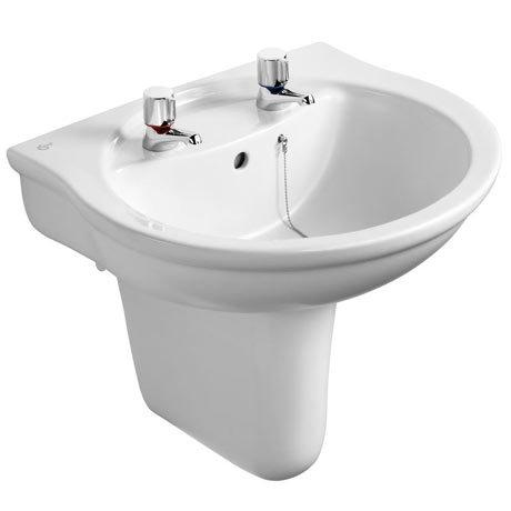 Ideal Standard Alto 2TH Basin & Semi Pedestal