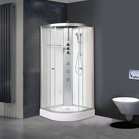 AquaLusso - Alto 01 - 800 x 800mm Shower Cabin - Polar White
