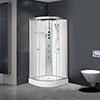 AquaLusso - Alto 01 - 800 x 800mm Shower Cabin - Polar White profile small image view 1