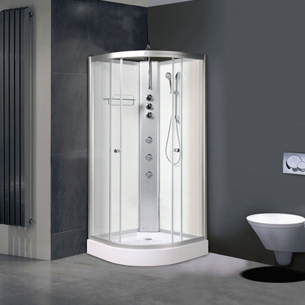 AquaLusso - Alto 02 - 900 x 900mm Shower Cabin - Polar White