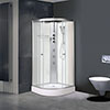 AquaLusso - Alto 02 - 900 x 900mm Shower Cabin - Polar White profile small image view 1