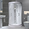 AquaLusso - Alto 80 - 800 x 800mm Quadrant Steam Shower - Polar White profile small image view 1