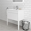 Alassio 800 Gloss White Wall Hung 1 Drawer Vanity Unit with Legs profile small image view 1