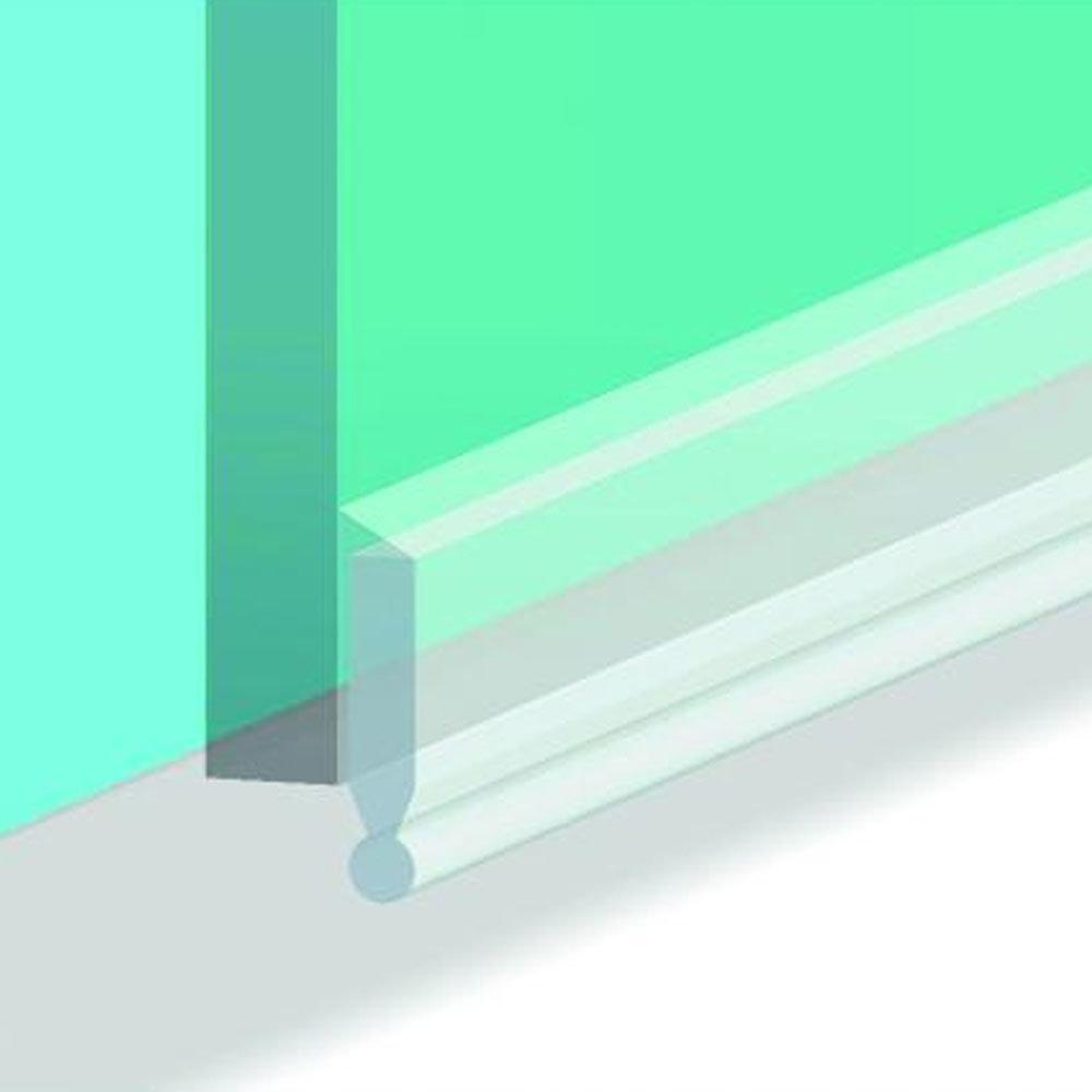 Croydex Bath Screen Seal Kit 1-8mm - Translucent - AM160332