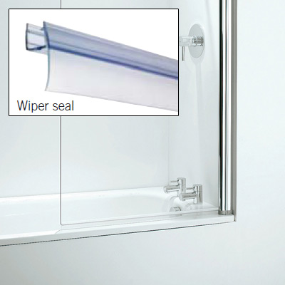 Croydex Rigid Bath Shower Screen Seal Replacement Wiper Seal - AM161332 Large Image
