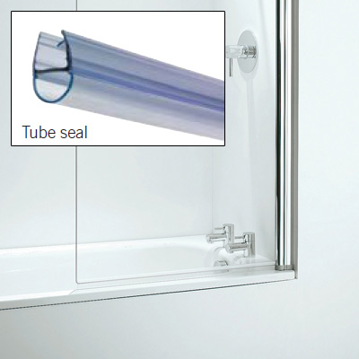 Croydex Rigid Bath Shower Screen Seal Replacement Tube Seal - AM161432 Large Image