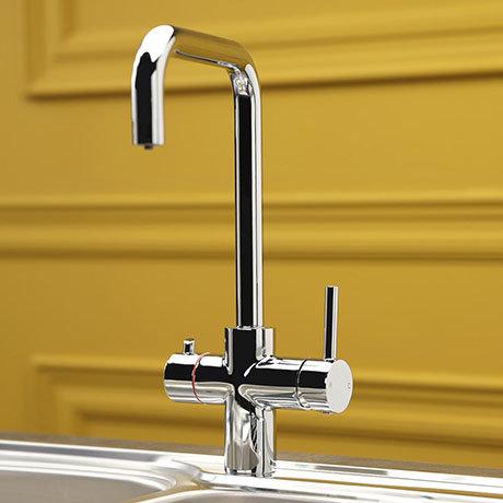 Reginox Amanzi 3-in-1 Instant Boiling Hot Water Tap - Chrome