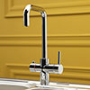 Reginox Amanzi 3-in-1 Instant Boiling Hot Water Tap - Chrome profile small image view 1