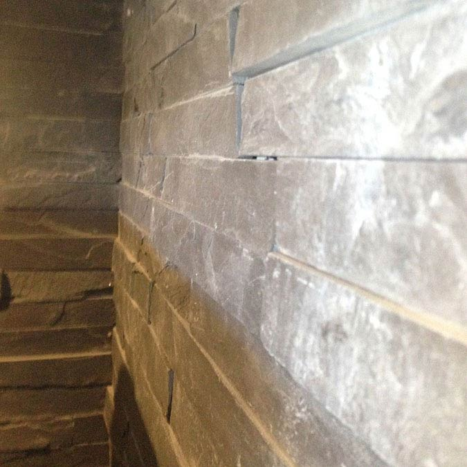 Amaro Grey Stone Cladding Panels - 400 x 100mm  Standard Large Image