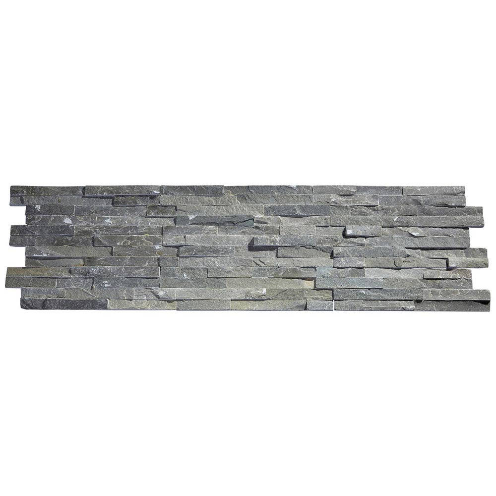 Amaro Grey Stone Cladding Panels - 400 x 100mm Large Image