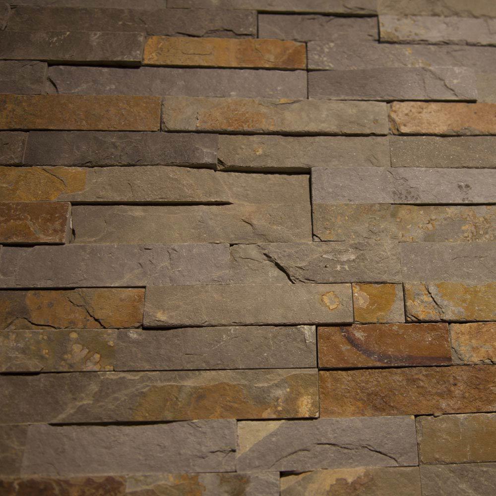 Amaro Rustic Slate Stone Cladding Panels - 400 x 100mm  Feature Large Image