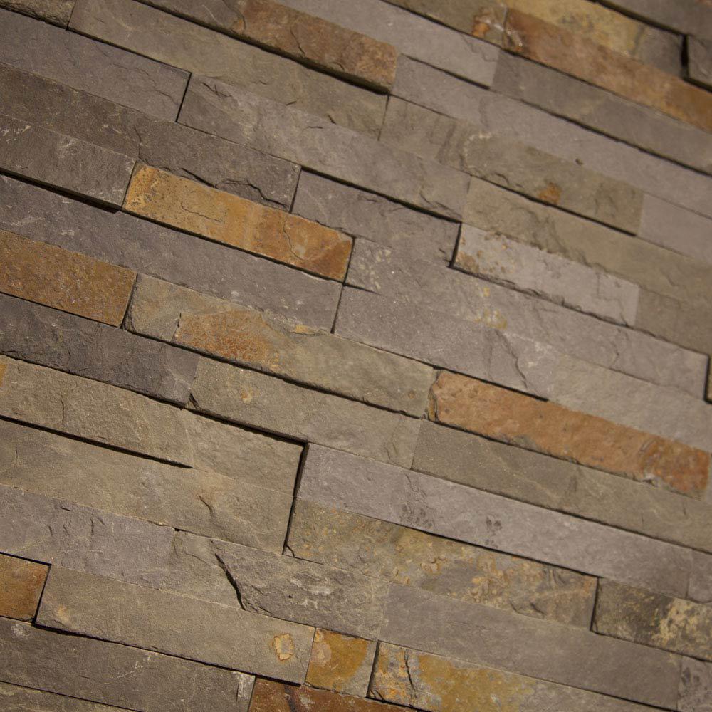 Amaro Rustic Slate Stone Cladding Panels - 400 x 100mm  Standard Large Image