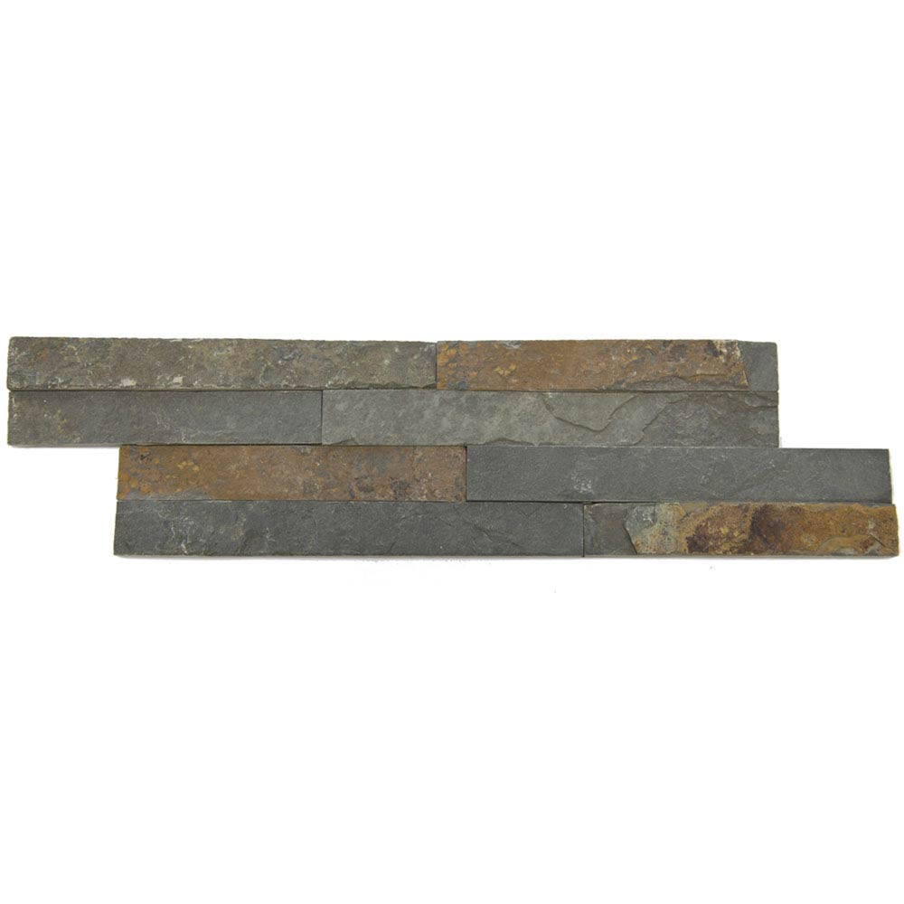 Amaro Rustic Slate Stone Cladding Panels - 400 x 100mm Large Image