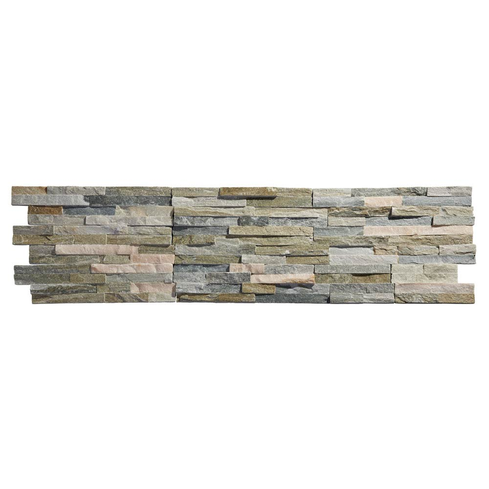 Amaro Stone Colour Stone Cladding Panels - 400 x 100mm Large Image