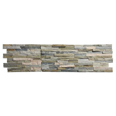 Amaro Stone Colour Stone Cladding Panels - 400 x 100mm