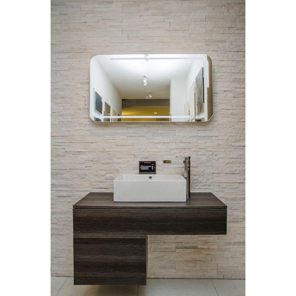 Amaro White Quartz Stone Cladding Panels - 400 x 100mm  Feature Large Image