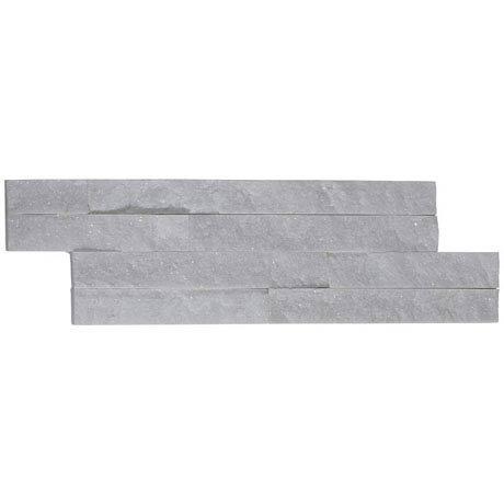 Amaro White Quartz Stone Cladding Panels - 400 x 100mm