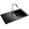 Rangemaster Amethyst 860 x 500mm Igneous Granite Ash 1.0 Bowl Inset Sink - AME860AS profile small image view 1