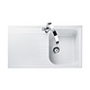 Rangemaster Amethyst 860 x 500mm Igneous Crystal White 1.0 Bowl Inset Sink - AME860CW profile small image view 1