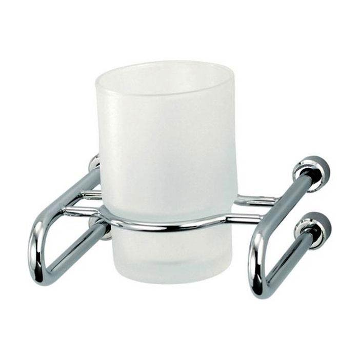 Triton Metlex Mercury Frosted Glass Tumbler and Holder - AME9005S Large Image