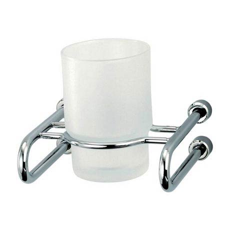 Triton Metlex Mercury Frosted Glass Tumbler and Holder - AME9005S